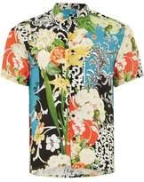 Topman Mens Multi Wild Floral Print Short Sleeve Shirt