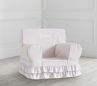 Pottery Barn Kids Dusty Lavender Ruffle Anywhere Chair