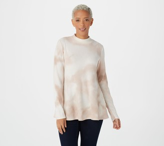 Logo by Lori Goldstein Hand Tie-Dyed Brushed Waffle Top