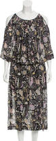 Jill Stuart Semi-Sheer Floral Dress w/ Tags
