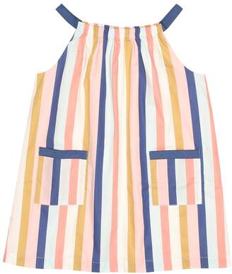 Bonpoint Lila striped cotton dress