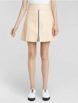 Calvin Klein Collection Vachetta Leather Panel Mini Skirt