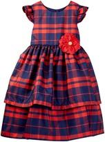 Pippa & Julie Plaid Jane Dress (Toddler Girls)