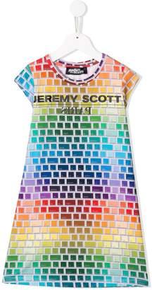 Jeremy Scott Junior TEEN keyboard print dress