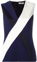 Lanvin panelled top - women - Silk/Acetate/Viscose - 36