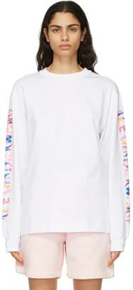 Alexander Wang White Logo Calligraphy Long Sleeve T-Shirt