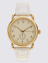 M&S Collection Round Face Curved Shoulder Watch