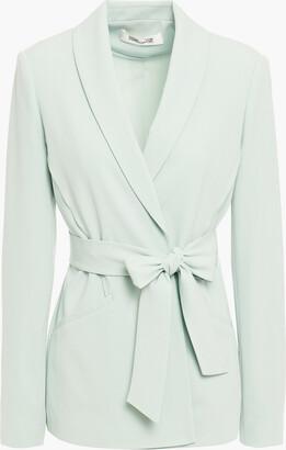 Diane von Furstenberg Crepe Wrap Jacket