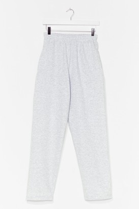 Nasty Gal Womens Straight Outta Here High-Waisted Joggers - Grey - S, Grey
