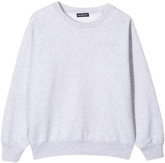 Balenciaga kids crew neck sweatshirt heather grey