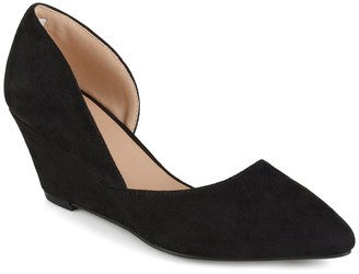 Journee Collection Lenox Half d'Orsay Wedge Pump