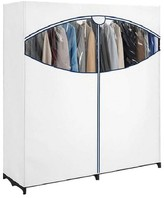 Whitmor Extra Wide Portable Clothes Closet - White