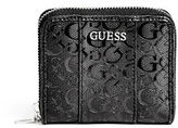 GUESS Women's Ware Patent Logo Small Zip-Around Wallet