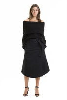 Country Road Drill Wrap Skirt