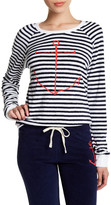 Sundry Striped Anchor Terry Pullover