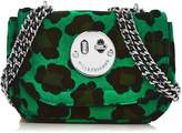 Hill & Friends Happy TweencyLeopard Chain Bag- Green/black