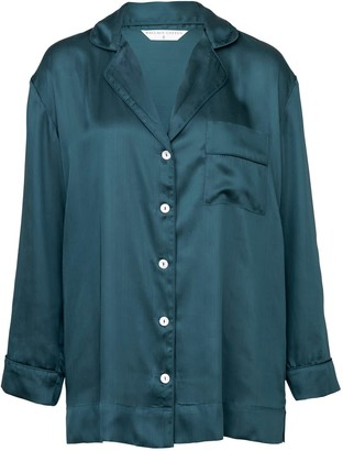 Wallace Cotton Mother Of Pearl Pj Shirt