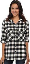 Sanctuary Women's Plaid Boyfriend Shirt