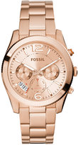 Fossil Women's Perfect Boyfriend Rose Gold-Tone Stainless Steel Bracelet Watch 40mm ES3885