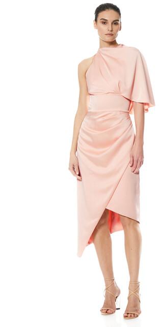 Theia Bria Cape Wrap Cocktail Dress