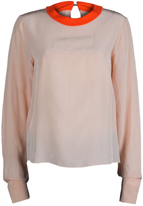 Roksanda Ilincic Light Pink and Neon Detail Blouse M