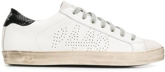 P448 perforated logo sneakers