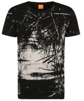 Hugo Boss Trueman Cotton Abstract Print T-Shirt M Black