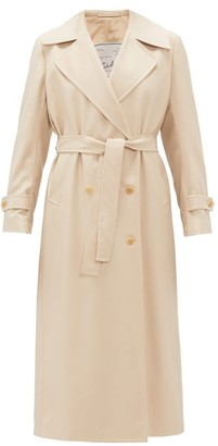 Giuliva Heritage Collection Double-breasted Wool-gabardine Trench Coat - Womens - Beige