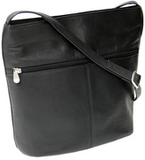 Royce Leather Women's Vaquetta Shoulder Bag with Front Zipper