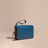 Burberry London Leather Pouch, Blue