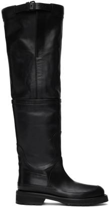 Ann Demeulemeester Black Belt Boots