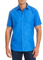 Robert Graham Santa Catalina Printed Short-Sleeve Shirt, Cobalt