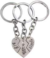 Bling Stars Big Sis Little Sis Broken Heart Charm Keychain Set Best Friends Gift