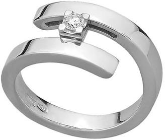 Mattia Cielo 18k White Gold 1-Diamond Ring, Size 6.75