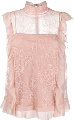 RED Valentino Dentelle Fleurs lace blouse