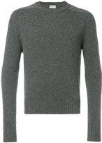 Saint Laurent crew neck sweater - men - Camel Hair - M