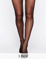 Wolford Satin Touch 20 Denier Tights 3 Pack