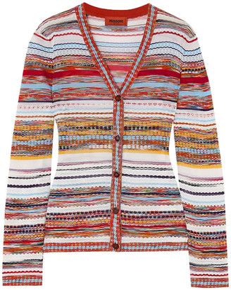 Missoni Striped Crochet-knit Cotton-blend Cardigan
