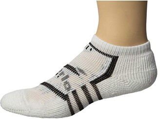 Thorlos Edge Running Micro Mini Single Pair (White/Black) Crew Cut Socks Shoes