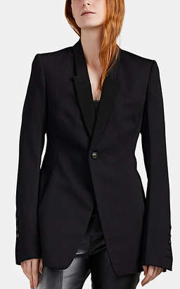 Rick Owens Women's Virgin Wool A-Line Blazer - Black