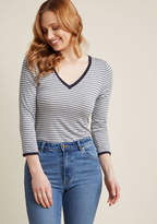 Go the Extra Style 3, 4 Sleeve Top in Grey in XXS - Long Regular Waist by ModCloth