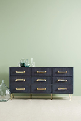 Odetta Nine-Drawer Dresser By Tracey Boyd in Blue Size ALL