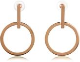 Vita Fede Antonia Rose Gold Tone Hoop Earrings