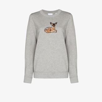 Burberry Fairhall deer embroidered sweatshirt