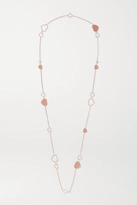 Chopard 007 Happy Hearts Golden Hearts 18-karat Rose Gold Diamond Necklace