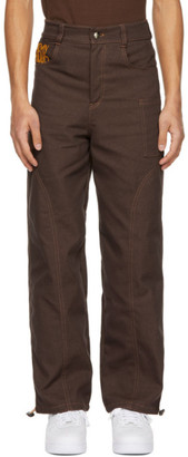 Phlemuns Brown Two-Panel Utility Trousers