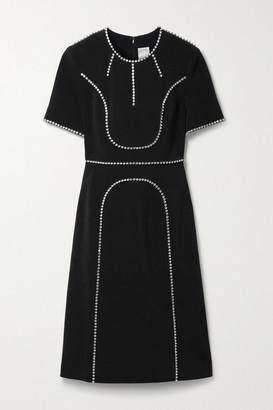 Huishan Zhang Violet Crystal-embellished Crepe Dress - Black