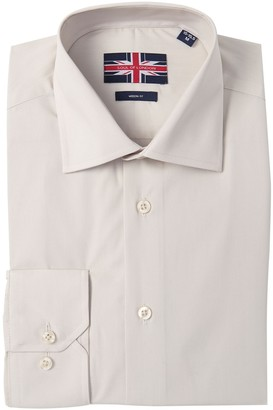Soul Of London Solid Modern Fit Regular Dress Shirt