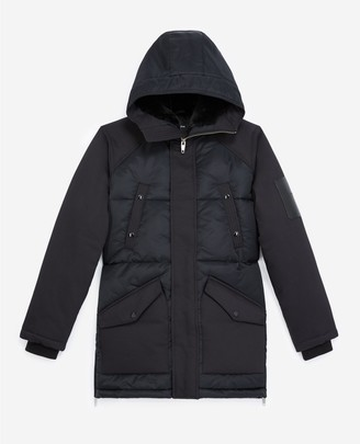 The Kooples Quilted black parka with matching lining