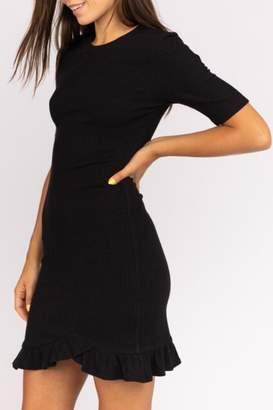 Le Lis Ruffle-Hem Sweater Dress